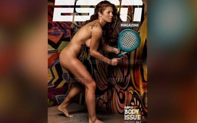 Capa da revista da ESPN com a atleta Celeste Paz
