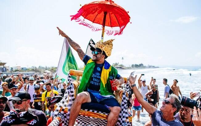 Ítalo Ferreira venceu etapa em Bali