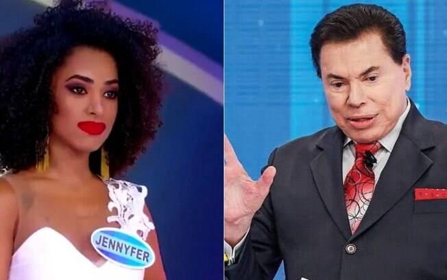 Silvio Santos e Jennyfer Oliver