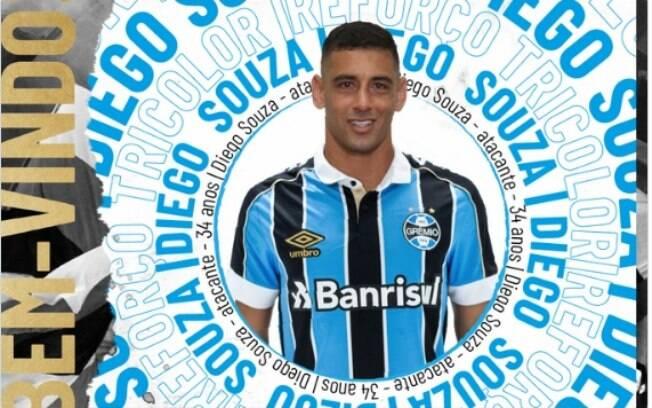 Diego Souza está de volta ao Grêmio
