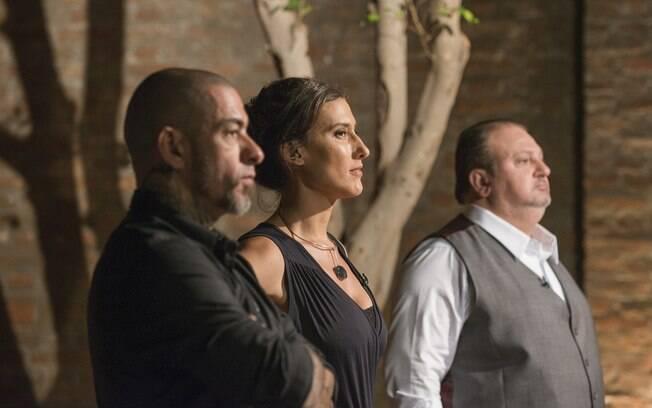 Henrique Fogaça, Paola Carosella e Erick Jacquin, jurados do MasterChef