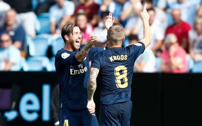 Toni Kroos marcou um golaço na vitória do Real Madrid em Vigo