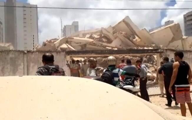 Prédio desabou em Fortaleza