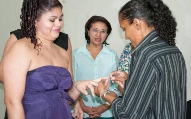 As noivas Mairla Santos Lima e Everoneide Costa Gomes