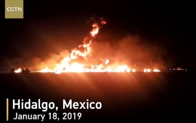 Explosão de um oleoduto da estatal Petróleos Mexicanos (Pemex) aconteceu na cidade de Tlahuelilpan, no México
