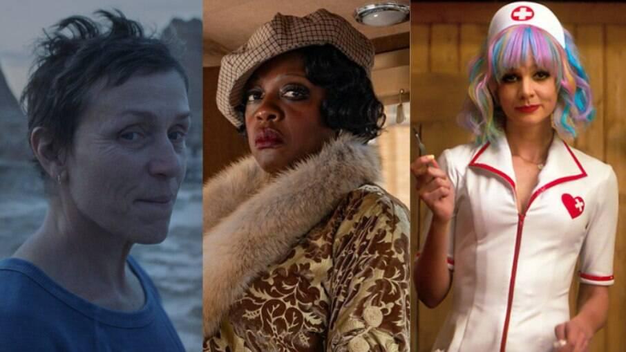 Frances McDormand, Viola Davis e Carey Mulligan foram indicadas no Globo de Ouro