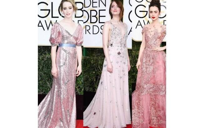 Globo de Ouro 2017: vestidos rosas
