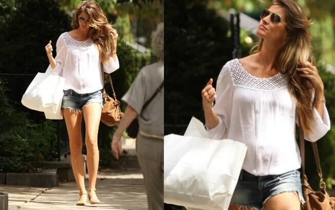 Gisele Bündchen foi às compras nessa quinta-feira (06) em Boston