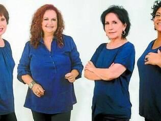 Formação. Da esquerda para a direita, o Quarteto Cy é composto atualmente por Sonya, Keyla, Cynara e Cyva