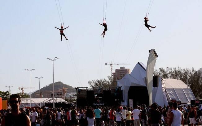Foto  Vivian Fernandez iG. Tirolesa também é atração do Rock in Rio 2013 43b77d1b735