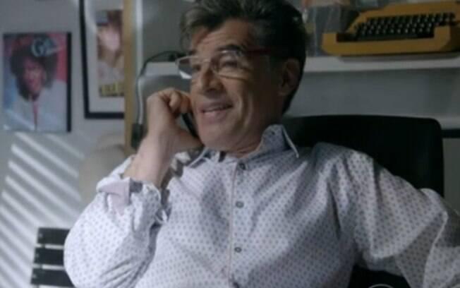 O grosseiro Téo Pereira (Paulo Betti), da novela Império. Foto: Reprodução