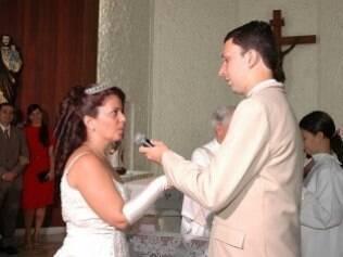 Com a nulidade da primeira união, Luciana pôde entrar novamente na igreja de véu e grinalda