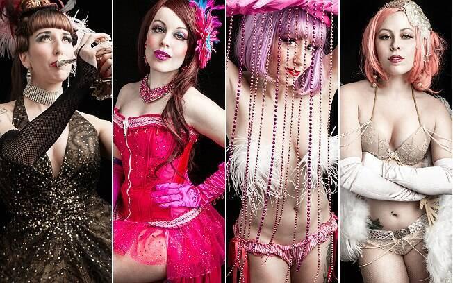Dançarinas de burlesco após a transformação