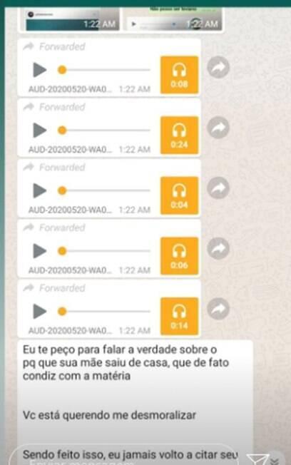 Mensagem de Leo Dias enviada Anitta