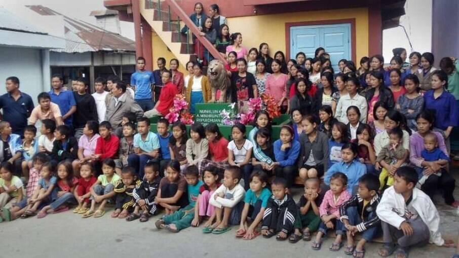Família Chana reside no estado de Mizoram