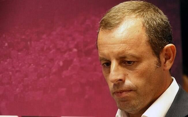 Sandro Rosell foi presidente do Barcelona até o ano de 2014