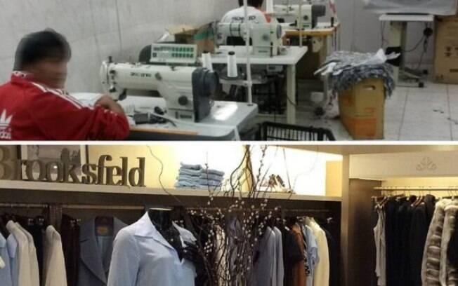 Cinco trabalhadores bolivianos foram encontrados em oficina com produção destinada à marca Brooksfield Donna
