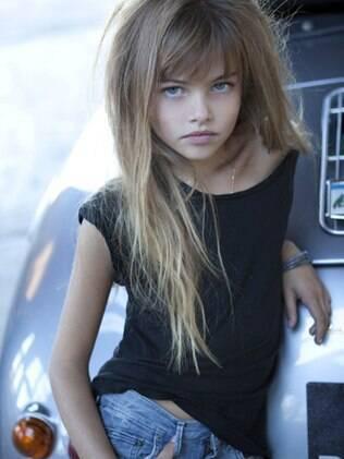 Thylane Blondeau em ensaio recente: fotos foram consideradas sensuais demais para uma menina de 10 anos