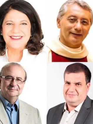 Candidatos para Prefeito de Catanduva - Eleições 2020 - Beth Sahão, Padre Osvaldo, Roberto Cacciari e Ricardo Rebelato