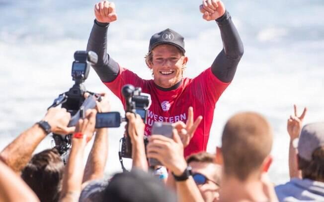 Campeão mundial de surfe em 2016, John John Florence vence etapa em Margaret River