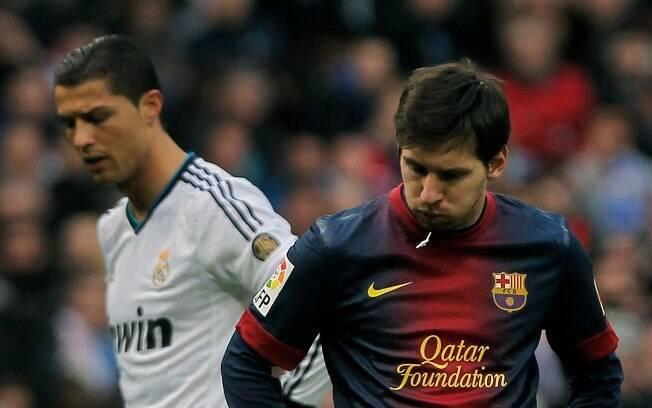 Cristiano Ronaldo começou do banco e não  marcou. Messi fez o dele, mas não tem motivos para  comemorar