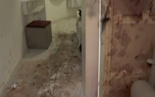 Rastros de sangue no apartamento de Alice Felis.