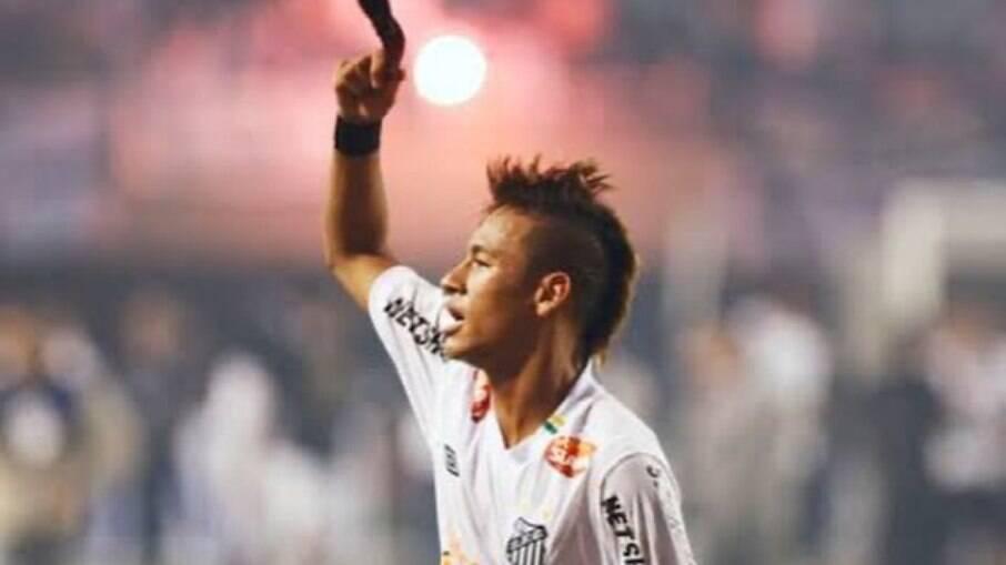 Neymar se declara ao Santos