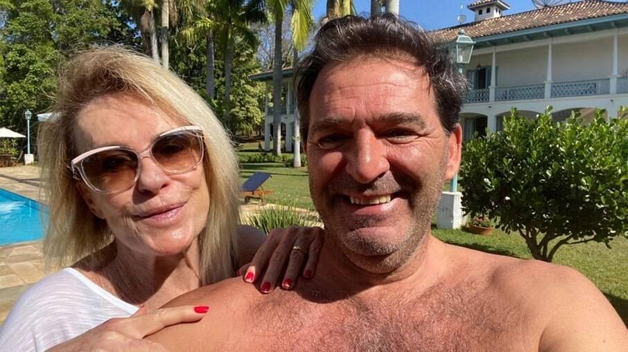 Ana Maria e Johnny Lucet, com quem era casada
