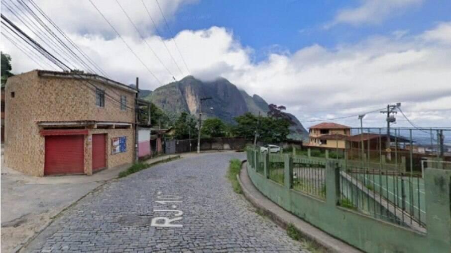 Local onde ocorreu o dispaaro, em Petrópolis, no Rio