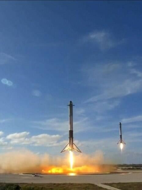 Satélites  do Falcon 9  rastrearão água e campo gravitacional da Terra