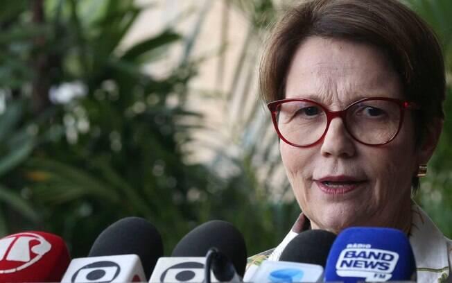 Tereza Cristina afirmou que irá convidar a modelo Gisele Bündchen para ser embaixadora do Ministério da Agricultura