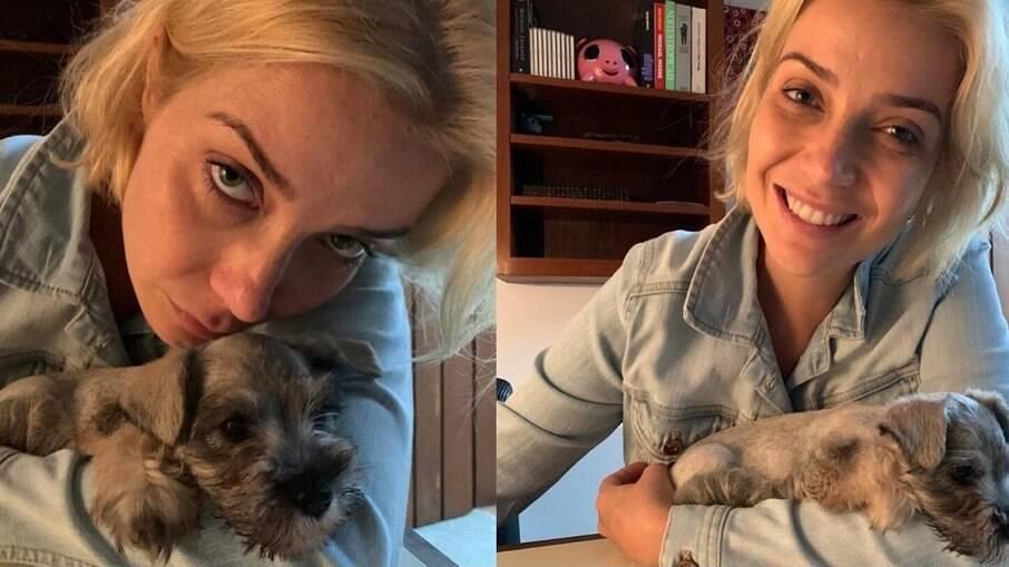 Luiza Possi e cachorrinha Sara