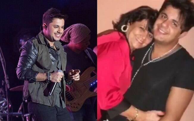 Cristiano Araújo e a mãe
