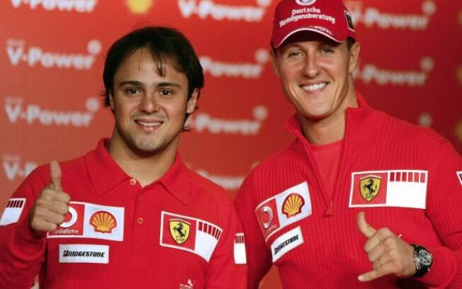 Felipe Massa e Michael Schumacher foram companheiros de Ferrari