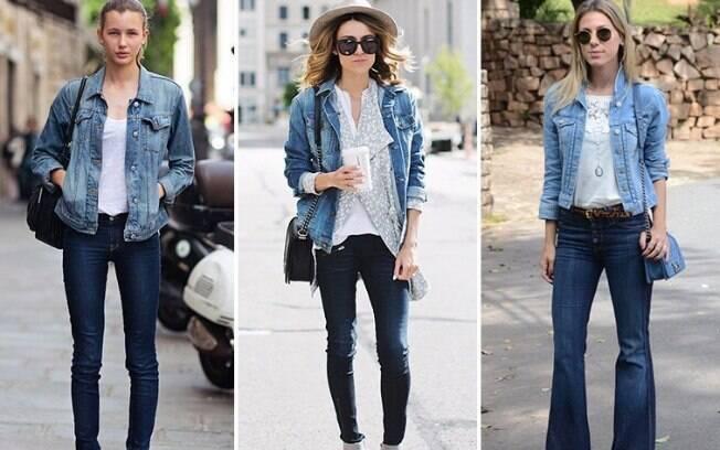 Um cinto de cores diferentes, acessórios, uma bolsa ou uma blusa estampada por baixo da jaqueta podem ajudar na composicão