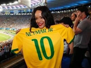 Ela torceu pela seleção brasileira durante o mundial