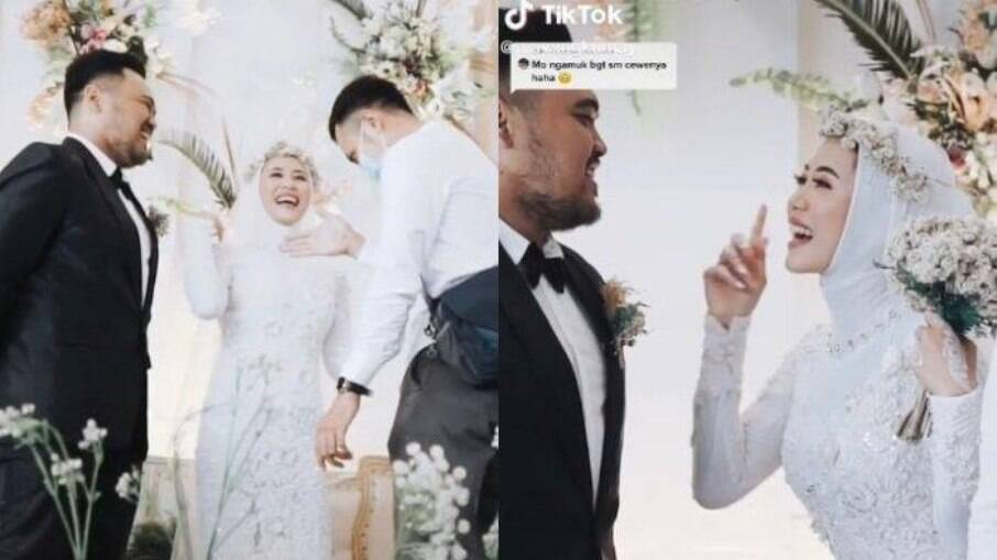 Cenas do casamento que viralizou na internet