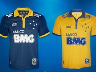 Camisas trazem as cores da bandeira brasileira, sem perder as características do Cruzeiro