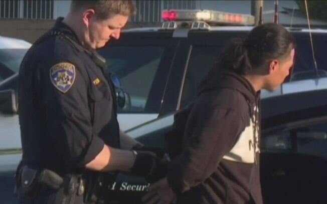 Shaun Lamar Moore, de 40 anos, foi preso depois de ser visto andando de bicicleta