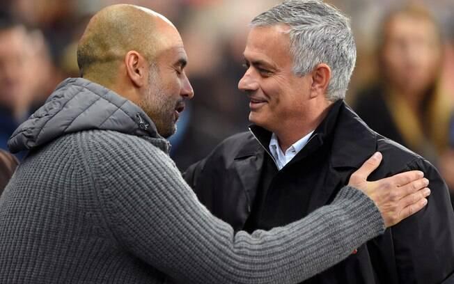 Pep Guardiola e José Mourinho