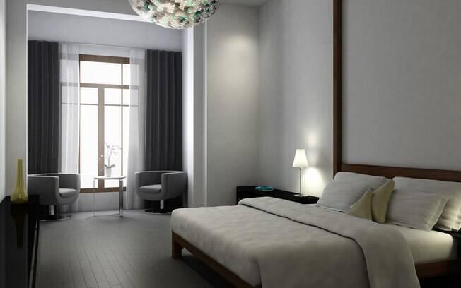 Um dos novos 84 quartos do antigo hotel Cervantes, reformado pelo grupo Fën