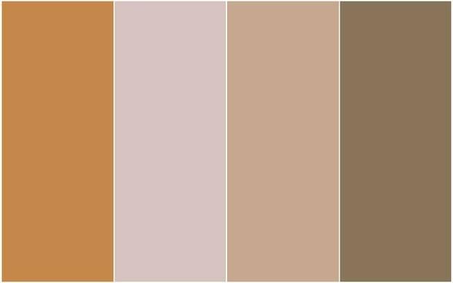 As cores indicadas pela Sherwin-Williams: SW 6369, SW 6022, SW 9096 e SW 9124