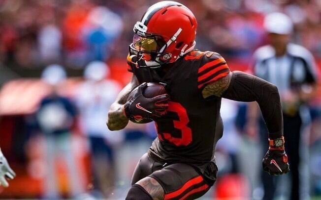 Odell Beckham Jr.%2C astro da NFL que atua pelo Cleveland Browns%2C usou relógio de R%24 1%2C4 milhão em jogo