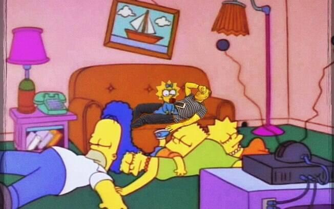 CEO dormindo no desenho Os Simpsons