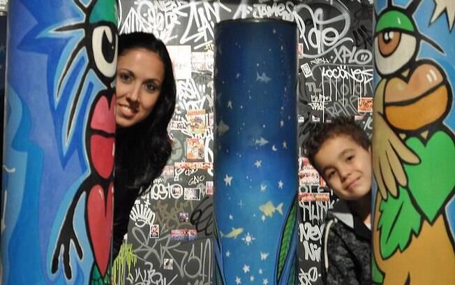 Tatianne Camara e o filho Yan: a tia virou estrela
