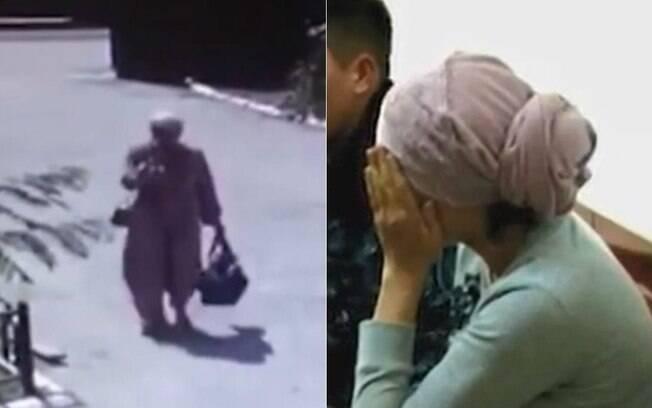 mulher roubando bebê