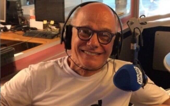 """Com uma foto do amigo sorridente, José Simão se despediu de Boechat: """"Meu amigo querido! Meu vice amado!"""""""