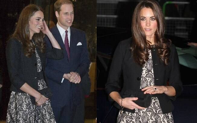 Príncipe William e Kate Middleton no show beneficente