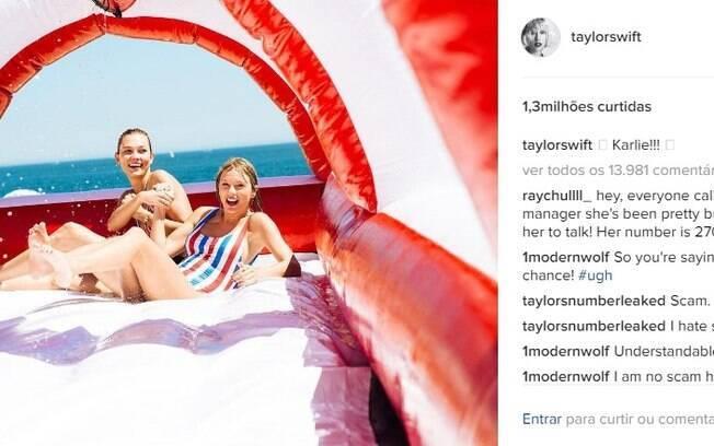 Taylor Swift é uma das celebridades mais curtidas no Instagram em todo o mundo