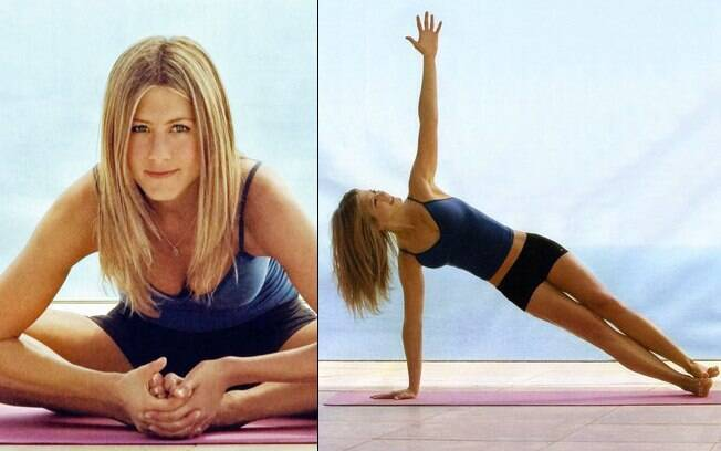Jennifer Aniston: ióga e pilates todos os dias